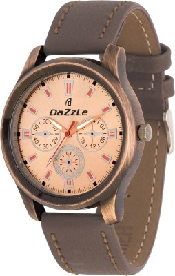 dazzle DL-GR001-CP-BRW Analog Watch  - For Men