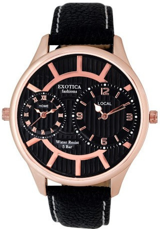 Exotica Fashions EF 70 DUAL LS Rose Gold Black Basic Analog Watch