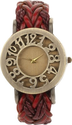 Addic ClassyRetro Vintage Leather Hollow Woven -W127 Analog Watch  - For Women