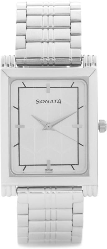 Sonata 77036SM02J Analog Watch For Women