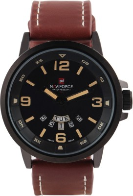 Naviforce NF9028-DBK-CBK-SLBR Fashion Analog Watch  - For Men