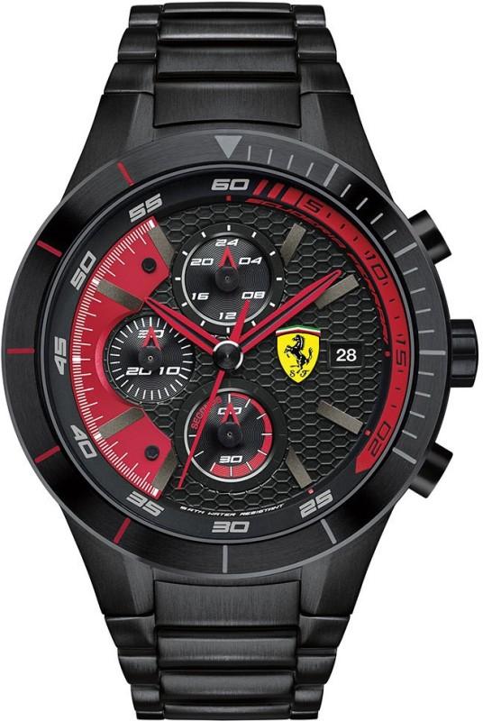 Scuderia Ferrari 0830264 Red Rev Evo Analog Watch For Men