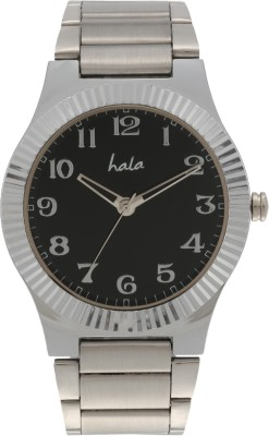 Hala Black Metal Casual Analog Watch  - For Men