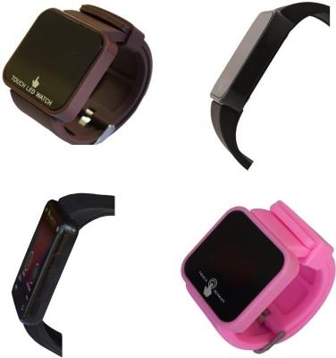 ROLAXEN Touch Led Screen-Combo Set of -04 Digital Watch  - For Boys, Men, Girls, Women