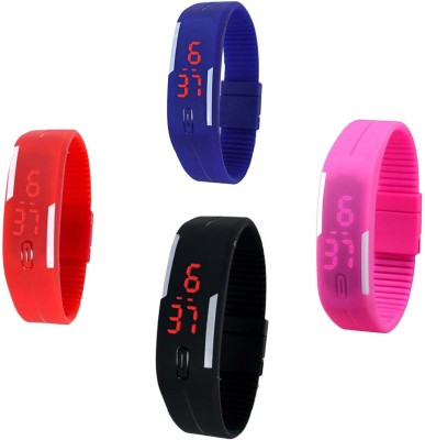 RTimes Silicon Jelly Led Combo Digital Watch  - For Boys, Men, Girls, Women, Couple