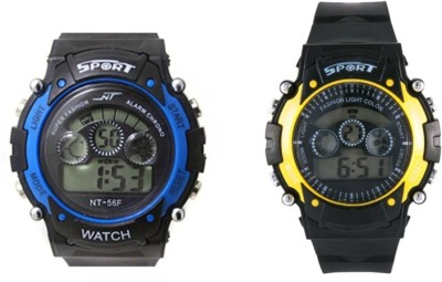 Crazeis WT-MCCH2BL-YL-C Digital Watch  - For Boys