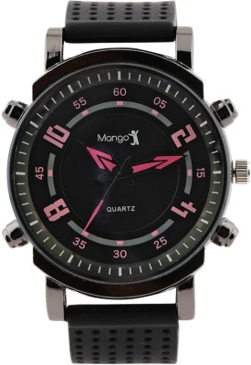 Mango People Black Colored Analog Watch  - For Boys, Men