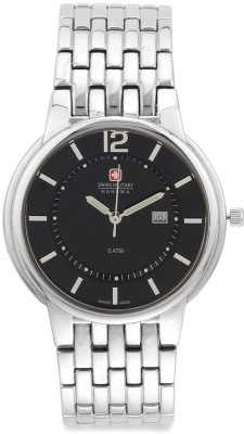 Swiss Military 5087 BLK/STL UNISEX Analog Watch  - For Men, Women