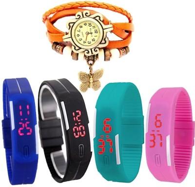 MIFY MFY266_BLK_BLU_CYN_PNK_(V)ORNG Analog-Digital Watch  - For Boys, Couple, Girls, Men, Women