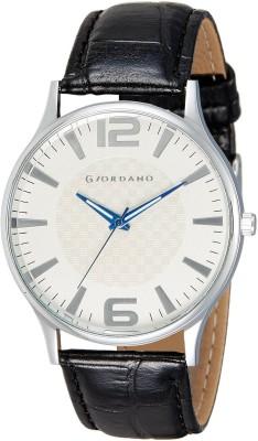 Giordano Basic White Analog Watch  - For Men