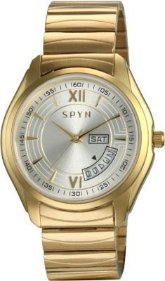 Spyn Golden belt day date Casual Analog Watch  - For Boys, Men