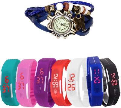 MIFY MFY314_BLK_BLU_CYN_PNK_PRPL_RD_WHT_(V)BLU Analog-Digital Watch  - For Boys, Couple, Girls, Men, Women