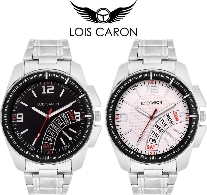 Lois Caron LCS 40994100 Pair Analog Watch For Men