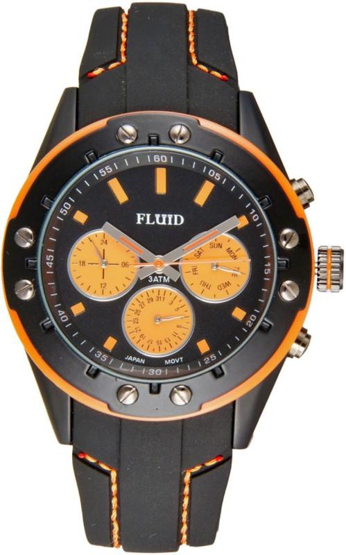 Fluid FL 103 BK OR Analog Watch For Men