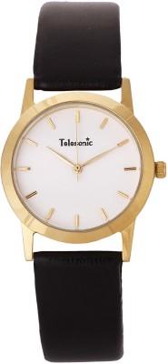 Telesonic 18RGLD-101 WHITE Shubham Series Analog Watch  - For Men