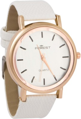 Forest Addic Solid White Plain White Dial (29) Analog Watch  - For Women
