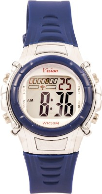 Vizion 8516-3BLUE Cold Light Digital Watch  - For Boys