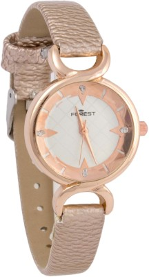 Forest Addic Golden Strap And Elegant Dial (50) Analog Watch  - For Women