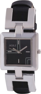 Agile AG_207 Leather Strap Analog Watch  - For Girls, Women