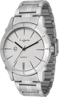 Lugano DE10022LG Metal Series Analog Watch  - For Men, Boys