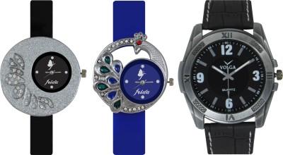 Frida Designer VOLGA Beautiful New Branded Type Watches Men and Women Combo250 VOLGA Band Analog Watch  - For Couple