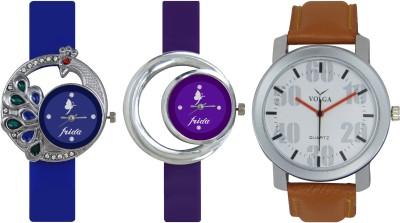 Frida Designer VOLGA Beautiful New Branded Type Watches Men and Women Combo465 VOLGA Band Analog Watch  - For Couple