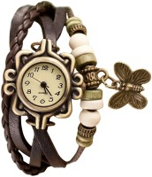 JAINX JW1021 Beige Dial With Rakhi Style Analog Watch For Wome