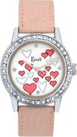 Cavalli CW099 Designer Hearts White Dial Pink Leather Analog Watch  - For Women