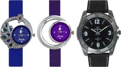 Frida Designer VOLGA Beautiful New Branded Type Watches Men and Women Combo472 VOLGA Band Analog Watch  - For Couple