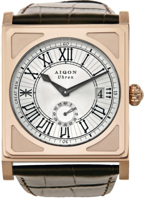 Aiqon S0130001 - Silver Great Ben 1 Analog Watch - For Men