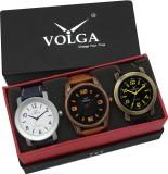 VOLGA VLW05-11-22-33 Mens Leather Belt C...