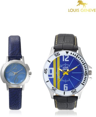 Louis Geneve LG-LMW-COMBO-101 Elegant & Fashionable Analog Watch  - For Couple