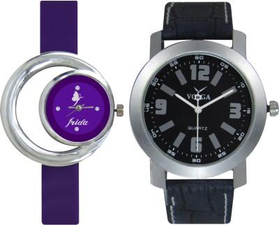 Frida Designer VOLGA Beautiful New Branded Type Watches Men and Women Combo135 VOLGA Band Analog Watch  - For Couple