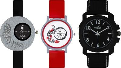 Frida Designer VOLGA Beautiful New Branded Type Watches Men and Women Combo341 VOLGA Band Analog Watch  - For Couple