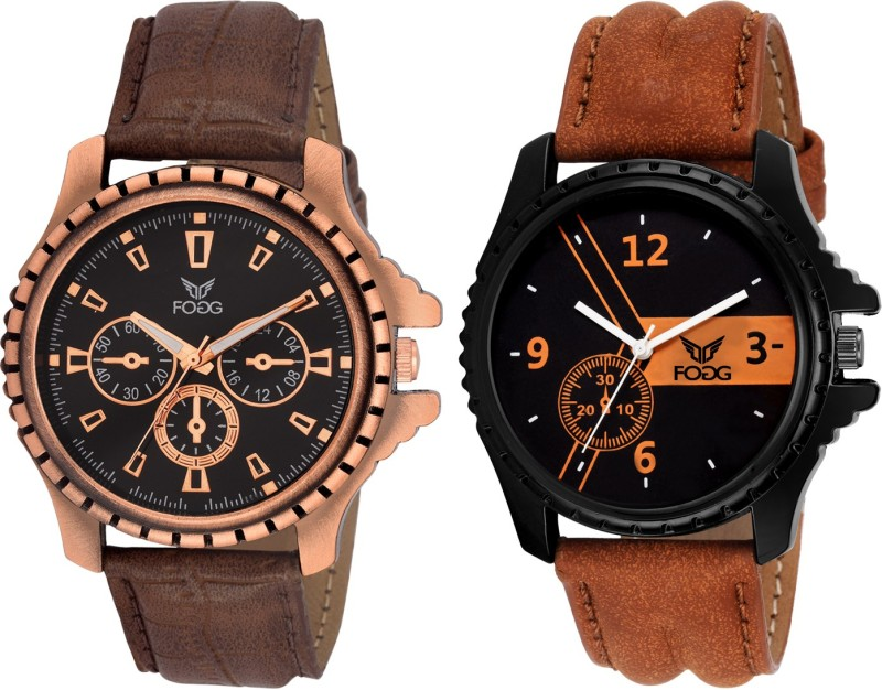 FOGG Unique Combo of 2 Watches 5056 BR Modish Analog Watch For