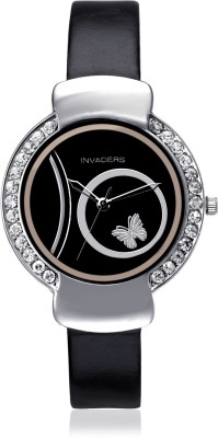 Invaders CUTE-BLK Cute Analog Watch  - For Women