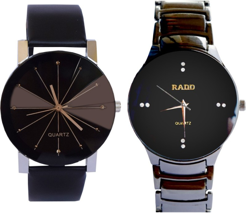 Creator Diamond Style Dial And RADD Black Colour Analog Watch