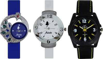 Frida Designer VOLGA Beautiful New Branded Type Watches Men and Women Combo529 VOLGA Band Analog Watch  - For Couple