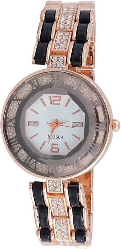 Super Drool SD0135WTROSEGOLDWHITE Analog Watch For Women