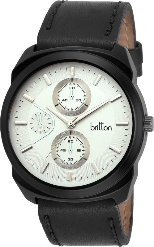 Britton BR GR169 WHT BLK Analog Watch For Men