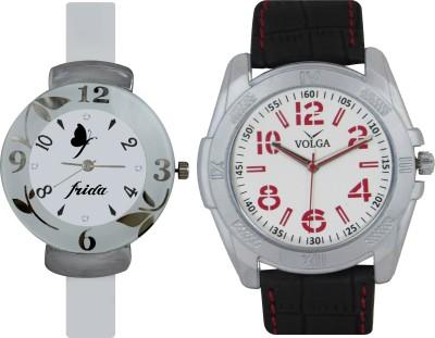 Frida Designer VOLGA Beautiful New Branded Type Watches Men and Women Combo208 VOLGA Band Analog Watch  - For Couple