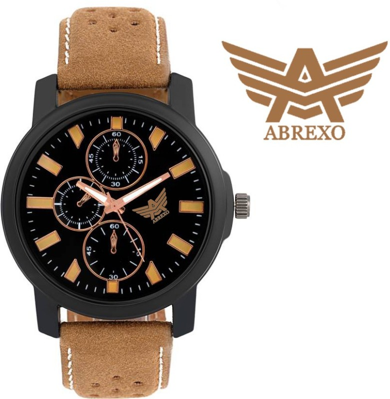 Abrexo 1061 BK BR CK Analog Watch For Men