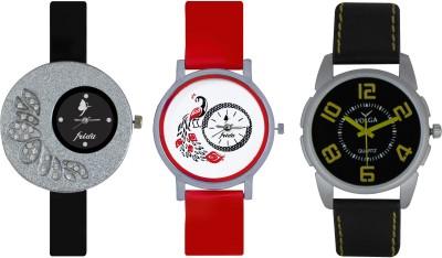 Frida Designer VOLGA Beautiful New Branded Type Watches Men and Women Combo352 VOLGA Band Analog Watch  - For Couple