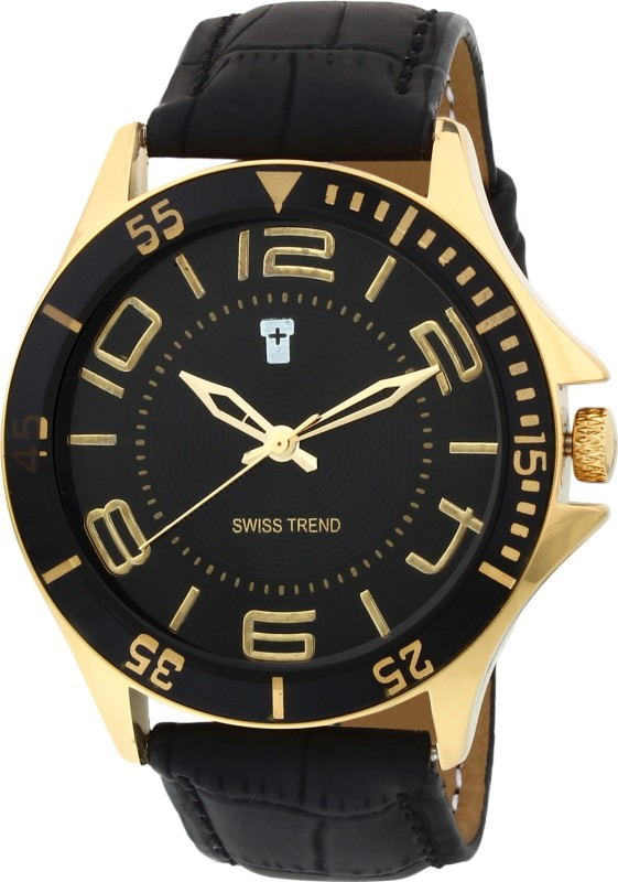 Swiss Trend ST2113 Golden Analog Watch For Men
