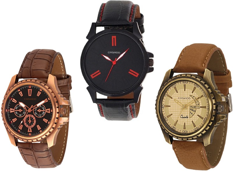 Casado 720nd153nd747 COMBO OF 3 TIME Analog Watch For Men