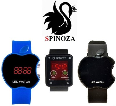 SPINOZA Blue Black apple watch for boys set of 3 watches Digital Watch  - For Women