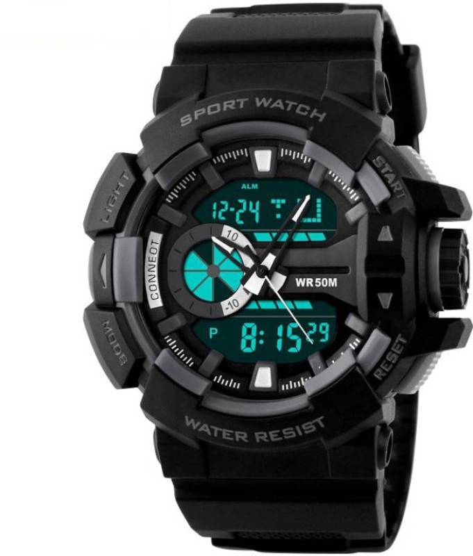 MM 1117 BLK Rugged Analog Digital Watch For Men