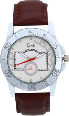 Cavalli CW094 White Classy & Designer Dial Leather Analog Watch  - For Men, Boys