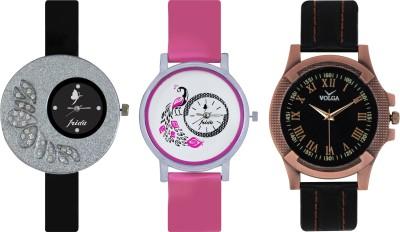 Frida Designer VOLGA Beautiful New Branded Type Watches Men and Women Combo276 VOLGA Band Analog Watch  - For Couple