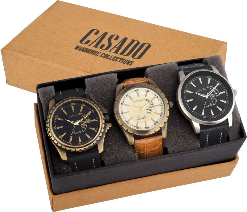 Casado 112AND728AND773 COMBO OF 3 LATEST EDITION WATCHES WITH JAP